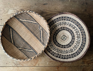 Vintage Handwoven Basket Pair