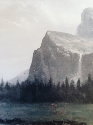Large Vintage Yosemite Litho