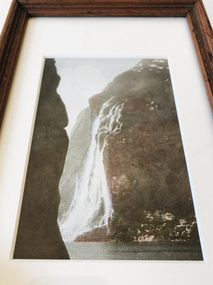 Antique Hand Tinted Waterfall Print