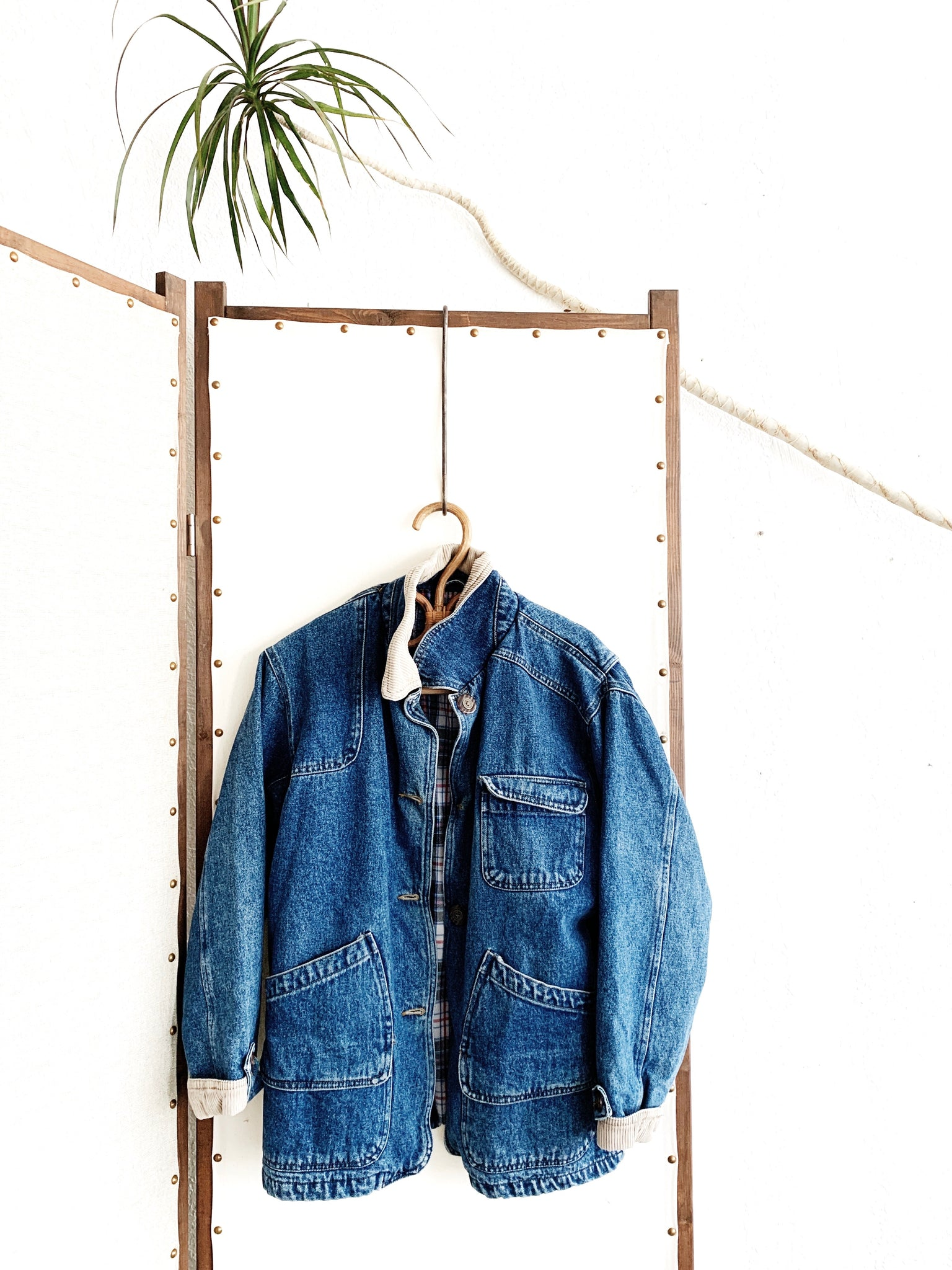 Vintage Flannel Lined Denim Chore Coat