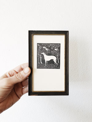 Small Framed Woodblock Print