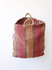 Vintage Colorful Straw Tote
