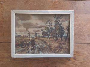 Vintage Country Scene Lithograph