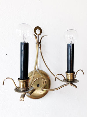 Vintage Brass Light Sconce