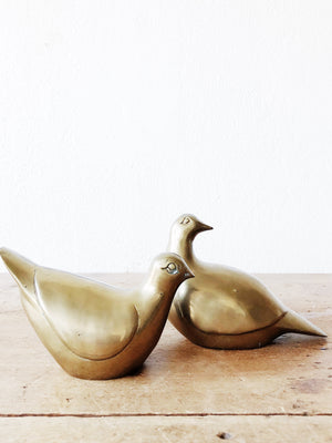 Vintage Solid Brass Dove