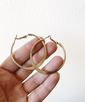 Vintage Goldtone Hoop Earrings
