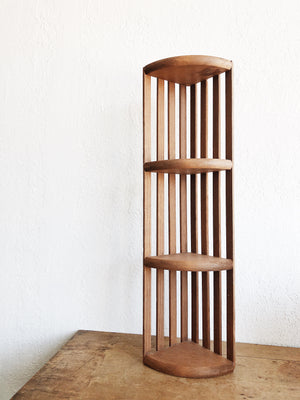 Vintage Slatted Corner Shelf