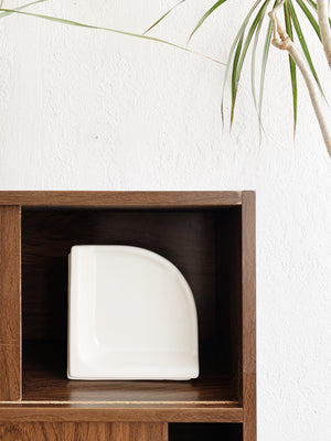 White Ceramic Book End