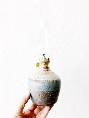Stoneware Oil Lamp