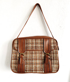 Vintage Tweed Tote / Overnighter