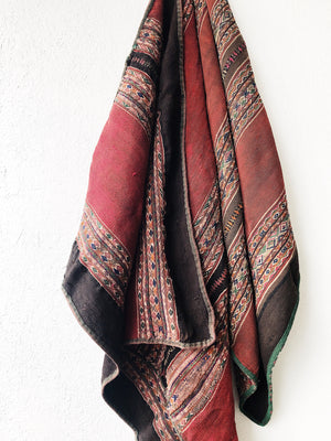 Vintage Handwoven Wool and Linen textile