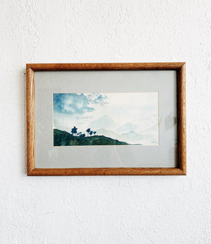 Vintage Framed Watercolor Painting