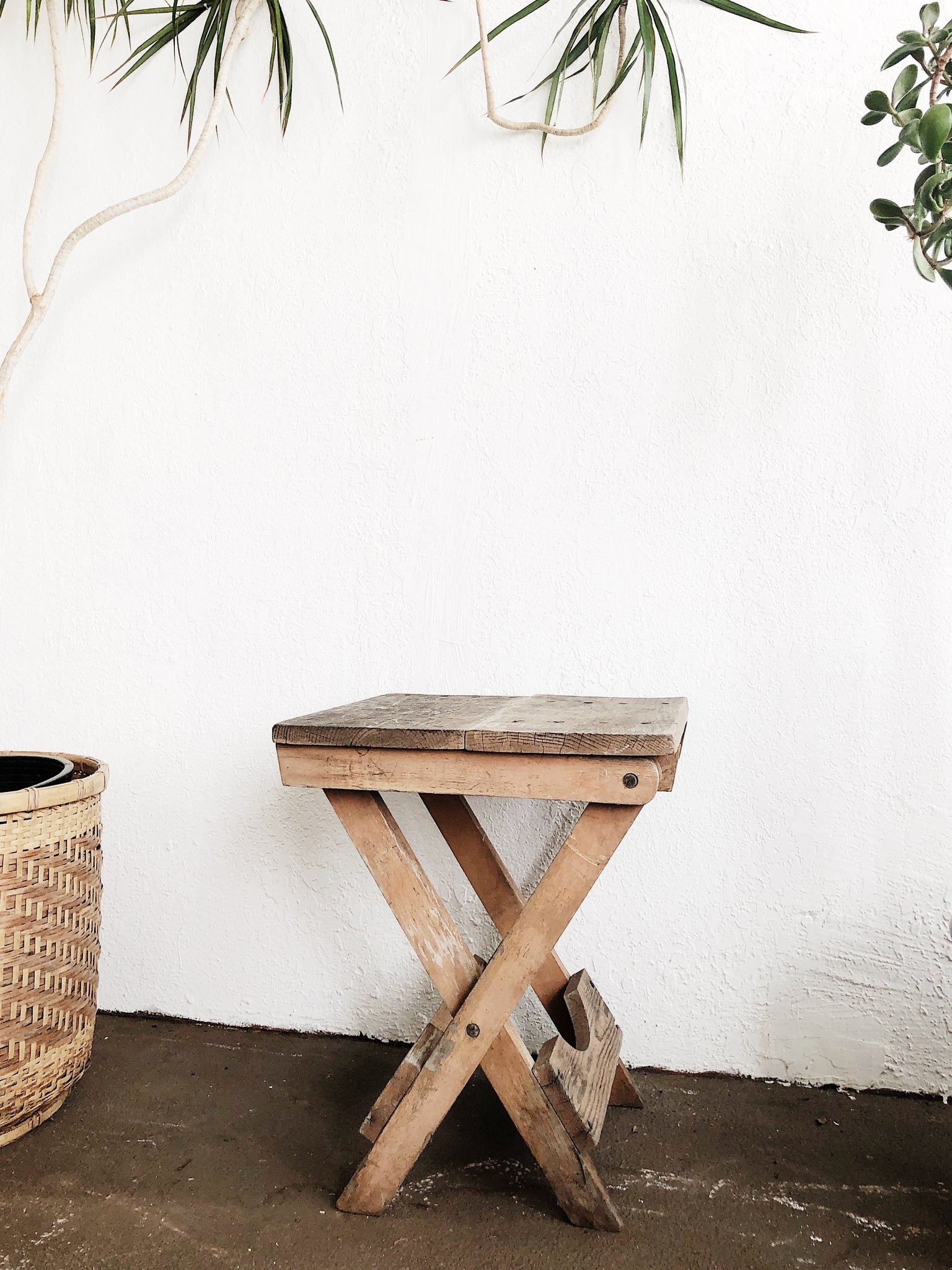Vintage Rustic Folding Camp Table