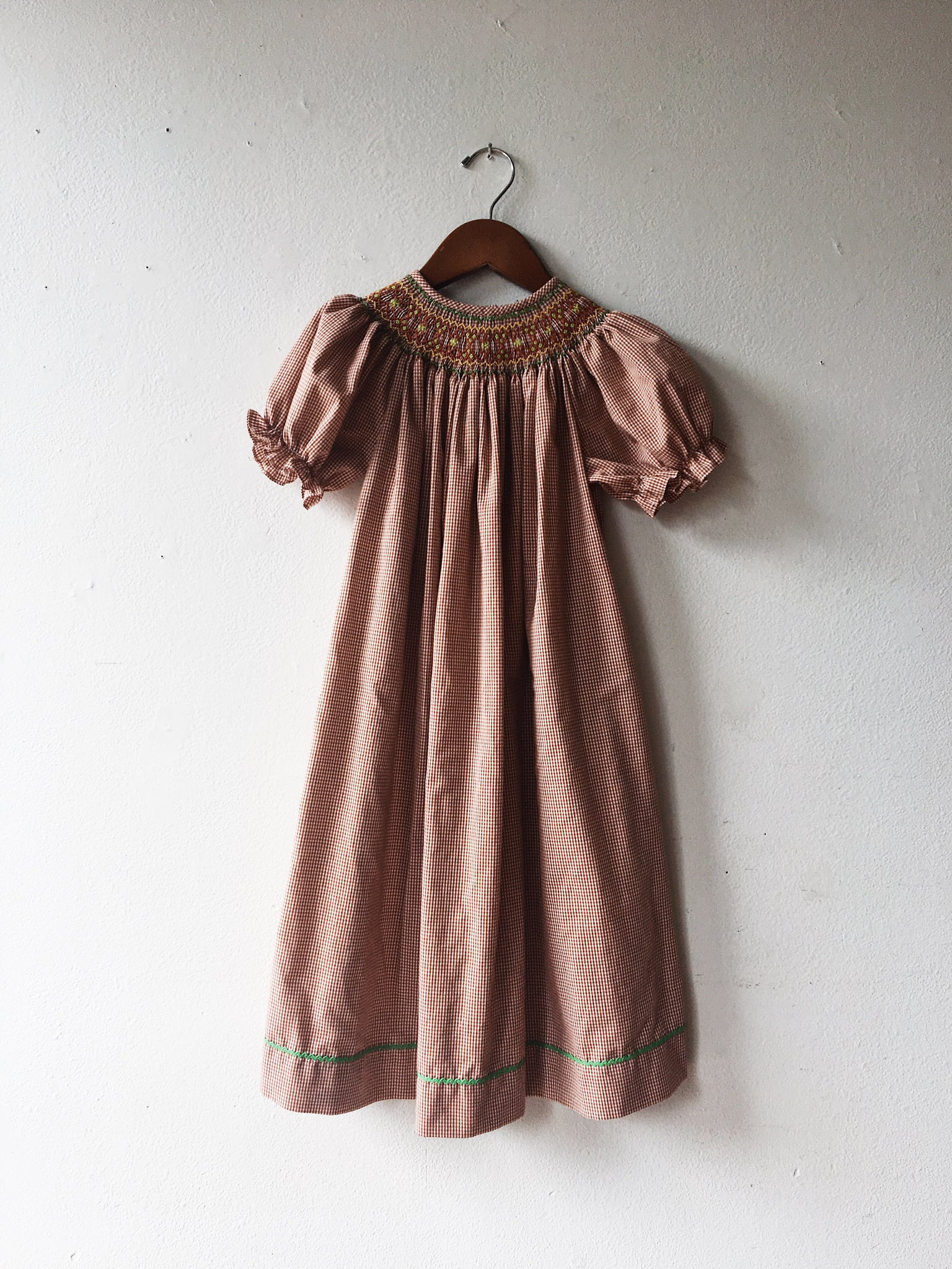 Vintage Embroidered and Smocked Baby Tunic