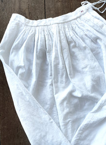 Antique White Cotton Flannel Petticoat