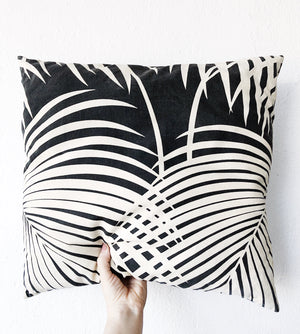 Vintage 1970s Palm Leaf Cushion