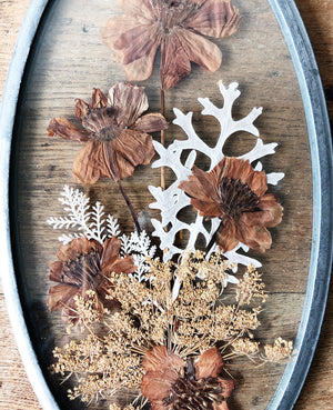 Vintage Pressed Flower Suncatcher