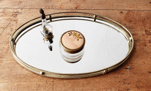 Vintage Mirrored Brass Tray