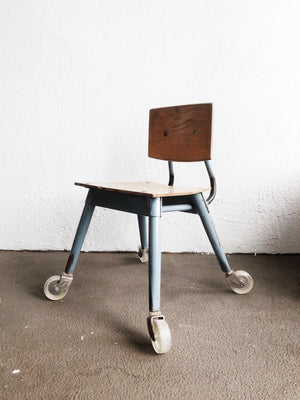Vintage Mid Century Industrial Kids Chair