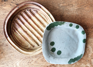 Small Handmade Pottery Dish / Spoon Rest