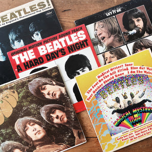 Assorted Vintage Beatles Albums