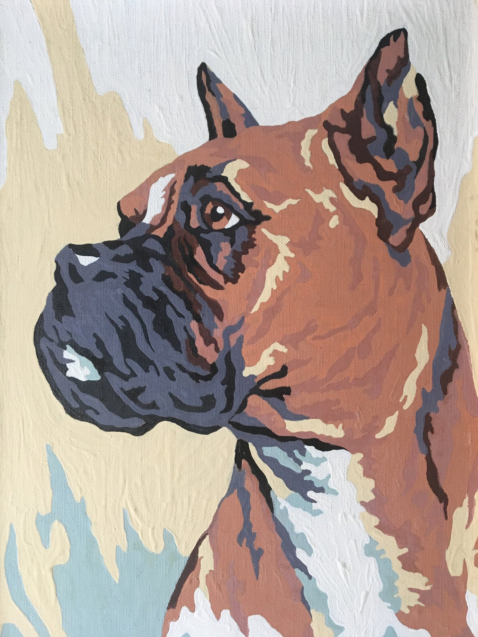 Boxer Paint by Number