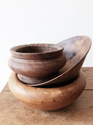 Vintage Wooden Bowl Collection