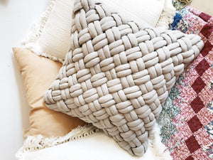 Chunky Braided Pillow Cushion
