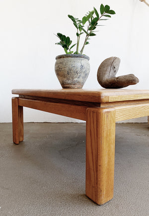 Chunky Vintage Oak Coffee Table