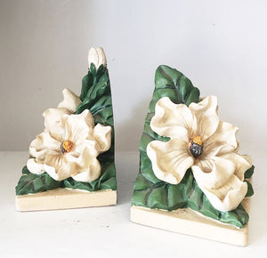Vintage Gardenia Bookends