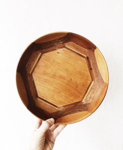 Vintage Inlaid Wood Bowl