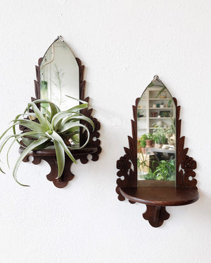Antique Mirrored Display Shelf