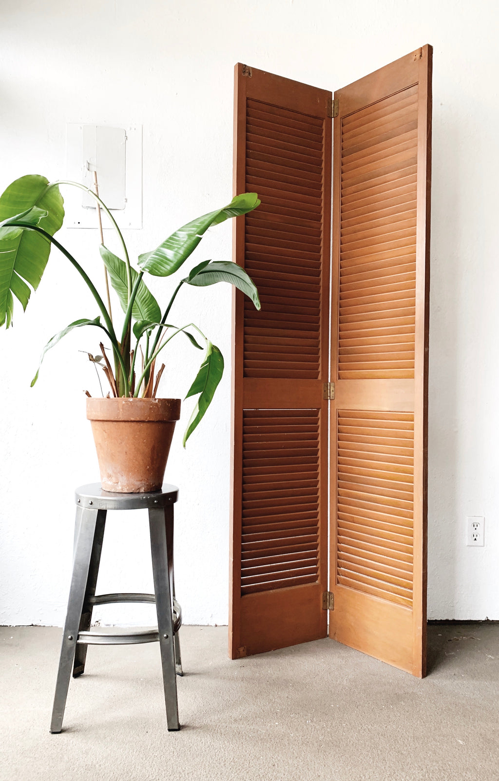 Tall Vintage Wood Shutters / Privacy Screen