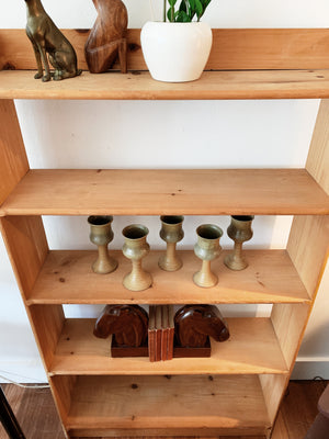 Vintage Unfinished Solid Wood Shelf