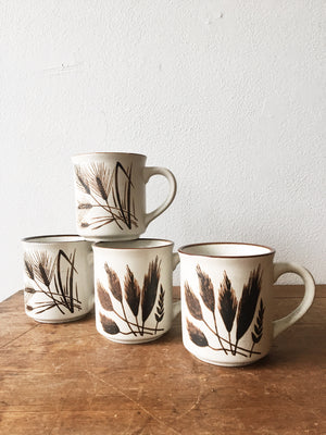 Vintage Wheat Mugs