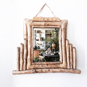 Handmade Wood Framed Mirror