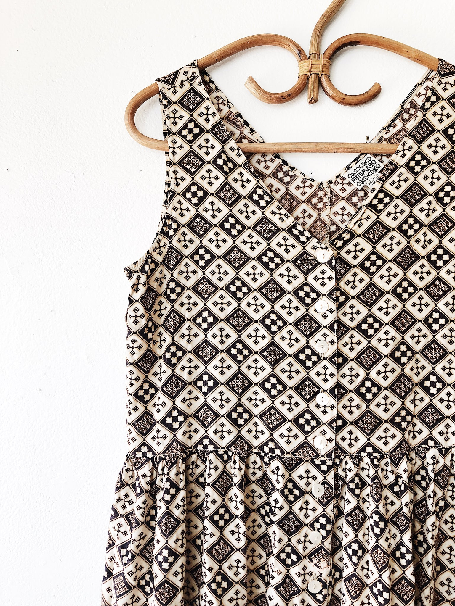 Vintage Putumayo Rayon Dress
