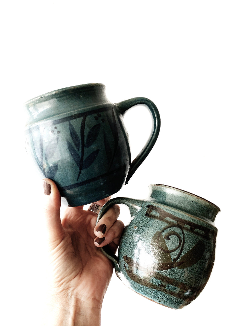 Large Handmade Mug Pair