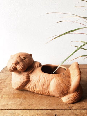 Clay Otter Planter