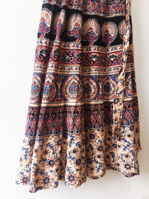 Vintage Indian Cotton Wrap Skirt