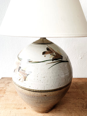 Large Vintage Pottery Lamp