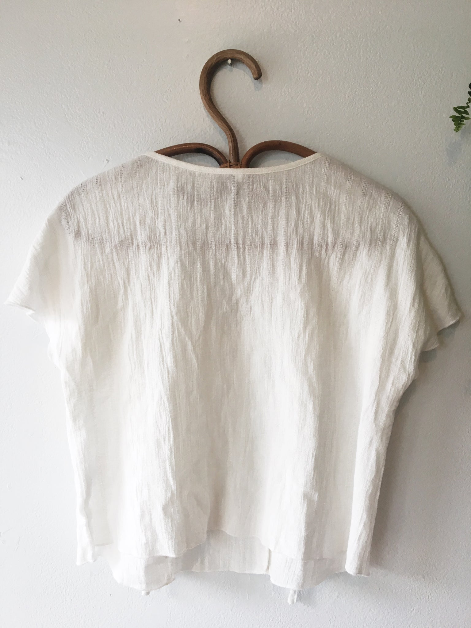 Flirty Cotton Gauze Top