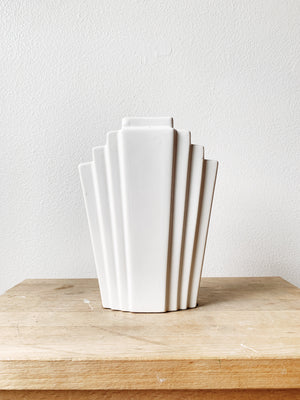 White Deco Ceramic Vase