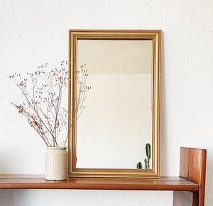 Vintage Gold Wood Framed Mirror