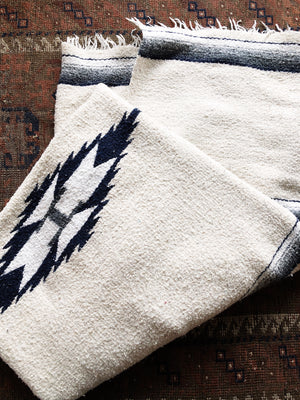 Vintage Cotton Mexican Blanket
