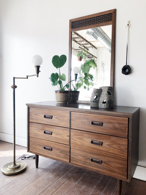 Vintage Mid Century Lane Dresser and Mirror