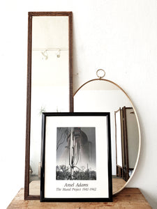 Vintage Oval Or Dressing Mirror