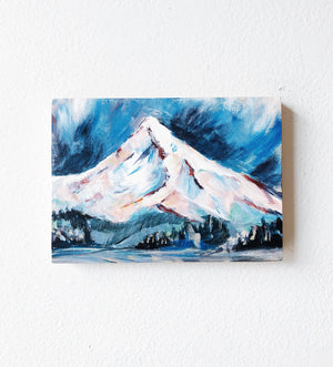 Mini Pink Tipped Mountain Painting