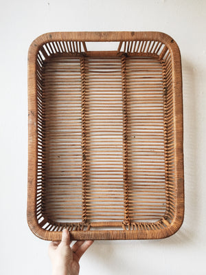 Large Vintage Woven Tray