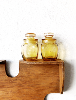 Pair of Vintage Glass Apothecary Jars
